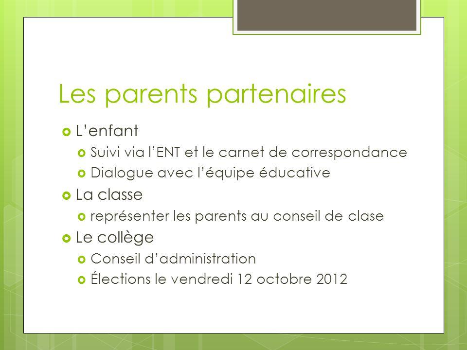 Les parents partenaires