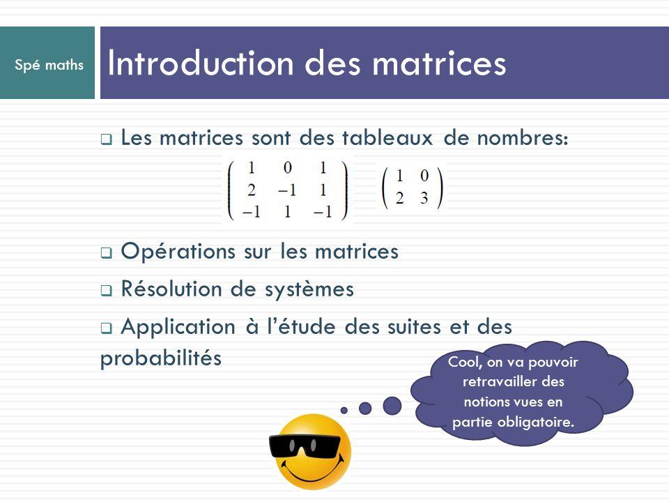 Introduction des matrices
