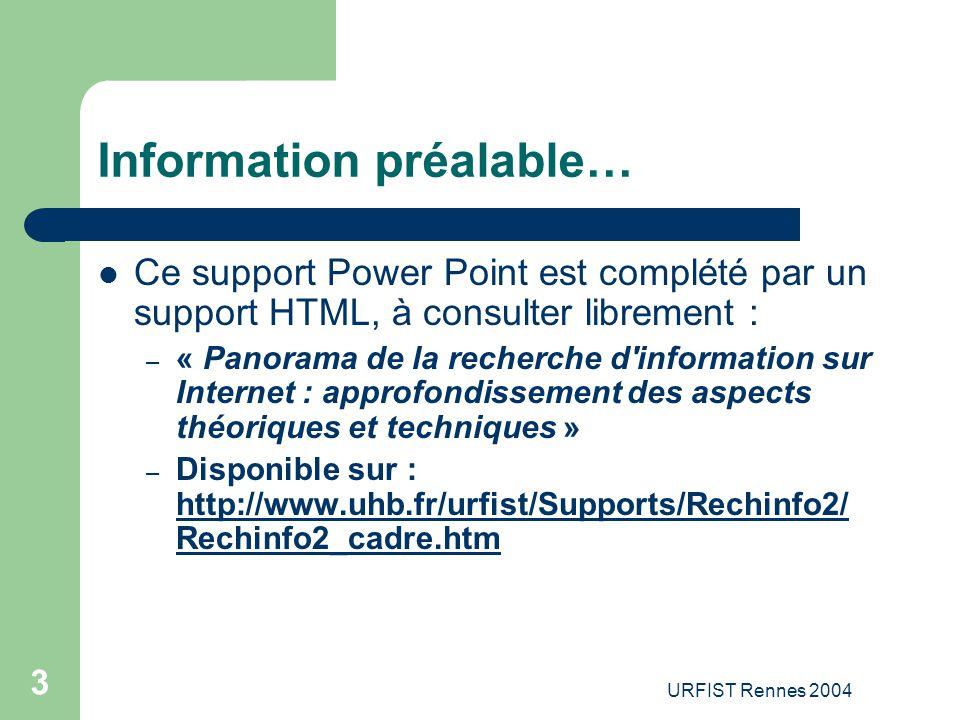 Information préalable…