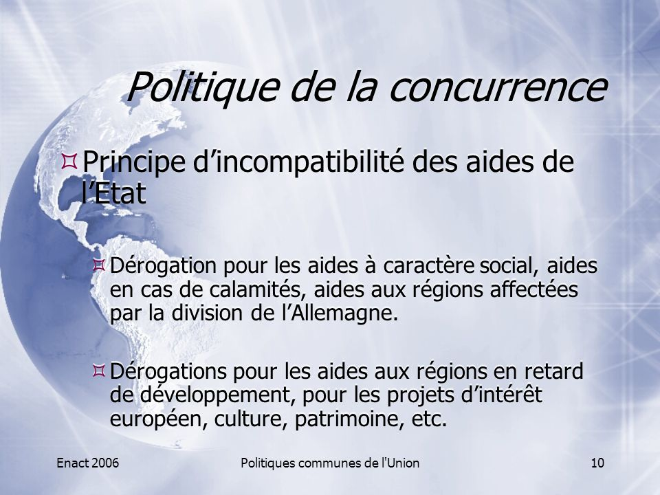 Politique de la concurrence