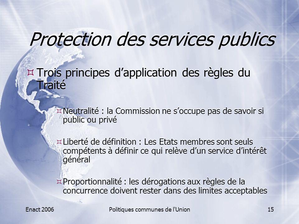 Protection des services publics