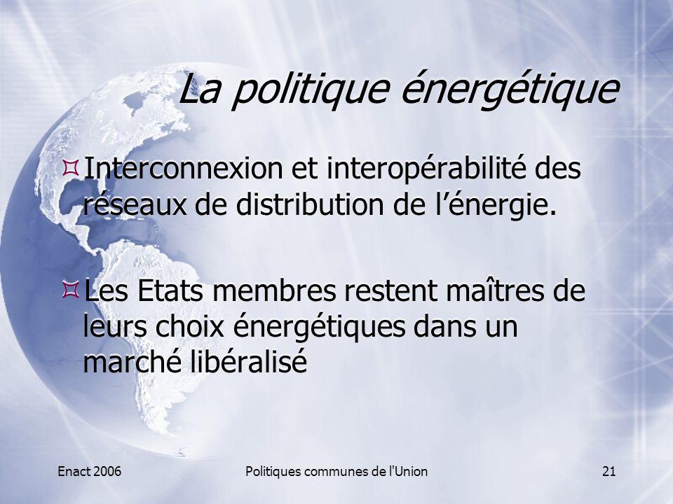 La politique énergétique