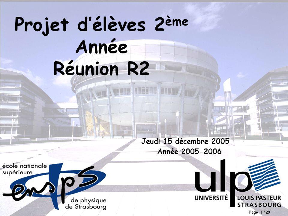 Projet d'élèves 2ème Année Réunion R2
