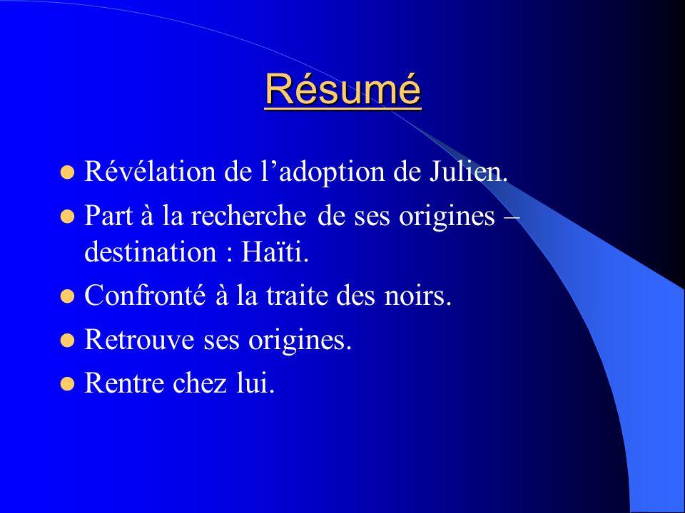 Résumé Révélation de l'adoption de Julien.