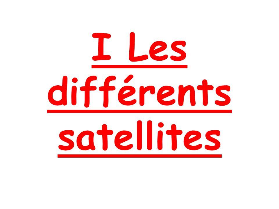 I Les différents satellites