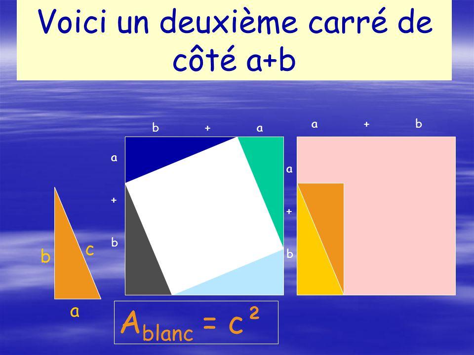 Voici un deuxième carré de côté a+b
