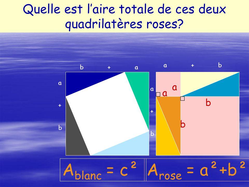 Ablanc = c² Arose = a²+b²