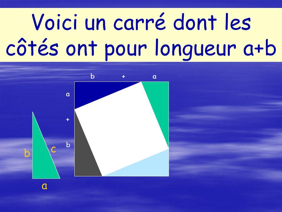 Voici un carré dont les côtés ont pour longueur a+b