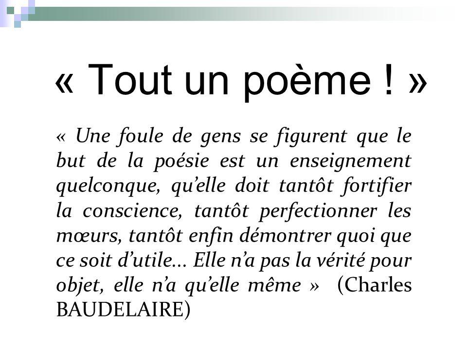 « Tout un poème ! »
