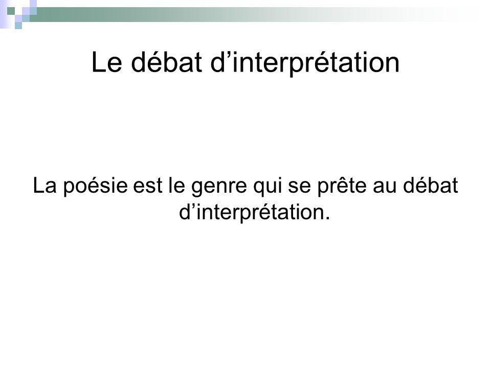 Le débat d'interprétation