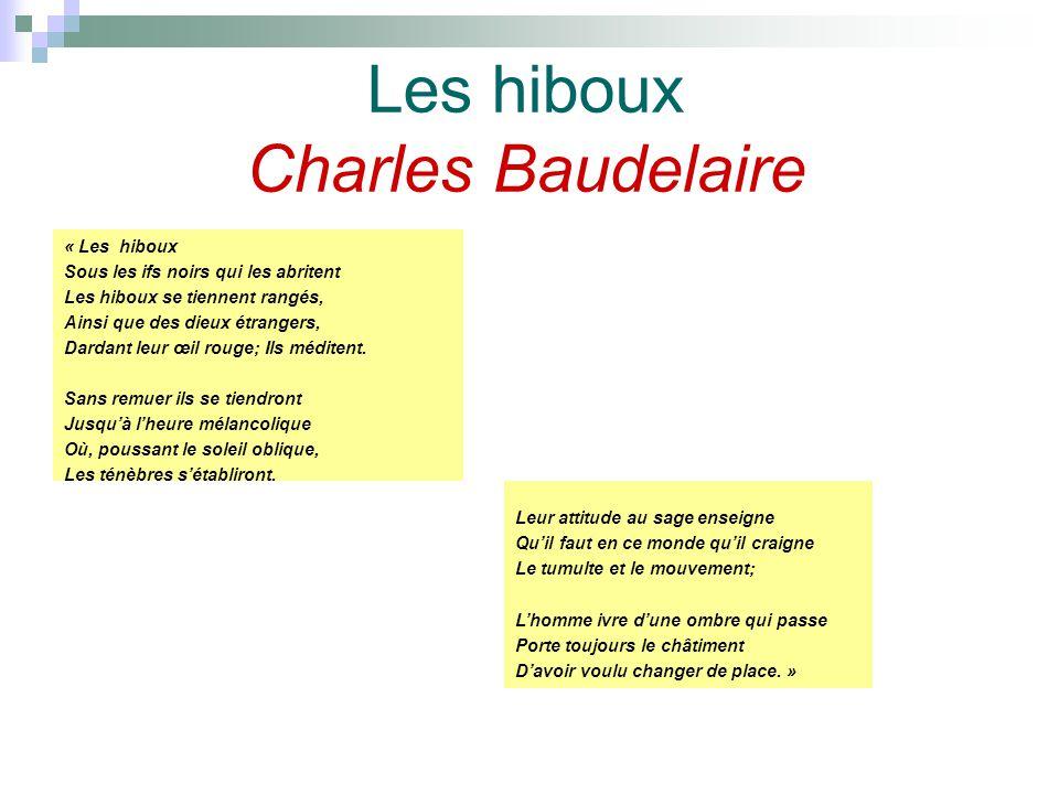Les hiboux Charles Baudelaire