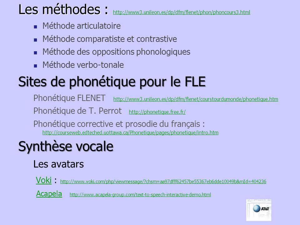 Sites de phonétique pour le FLE