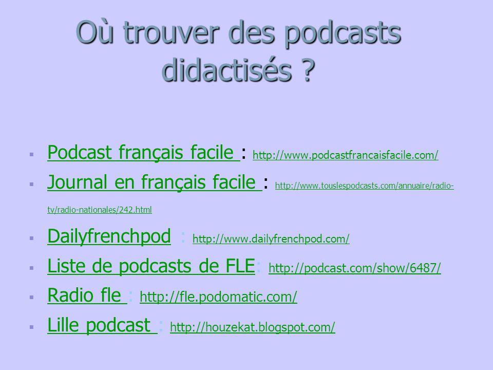 Où trouver des podcasts didactisés
