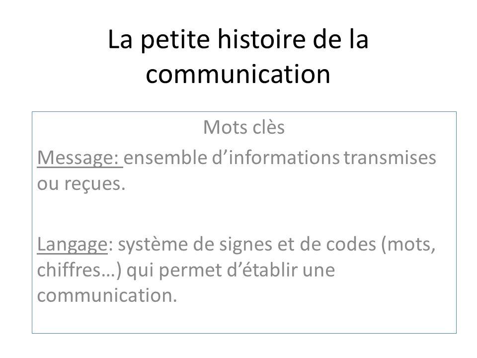 La petite histoire de la communication