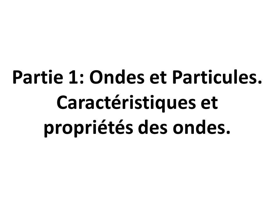 Partie 1: Ondes et Particules.