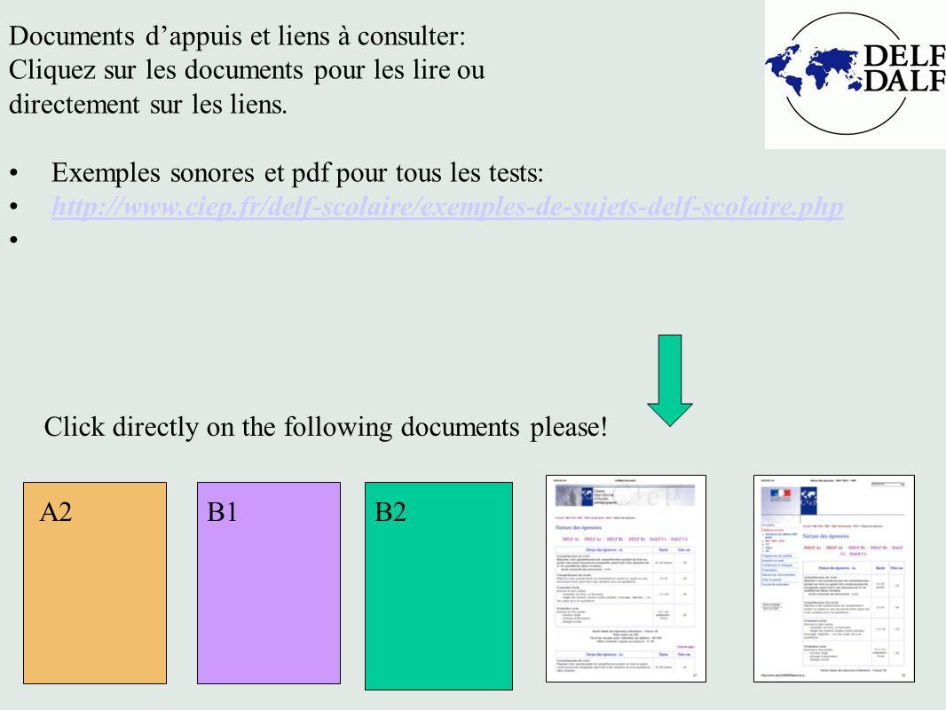 Documents d'appuis et liens à consulter: