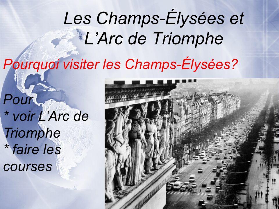 Les Champs-Élysées et L'Arc de Triomphe