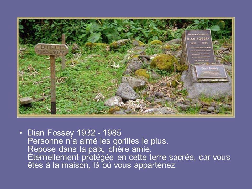 Dian Fossey 1932 - 1985 Personne n'a aimé les gorilles le plus
