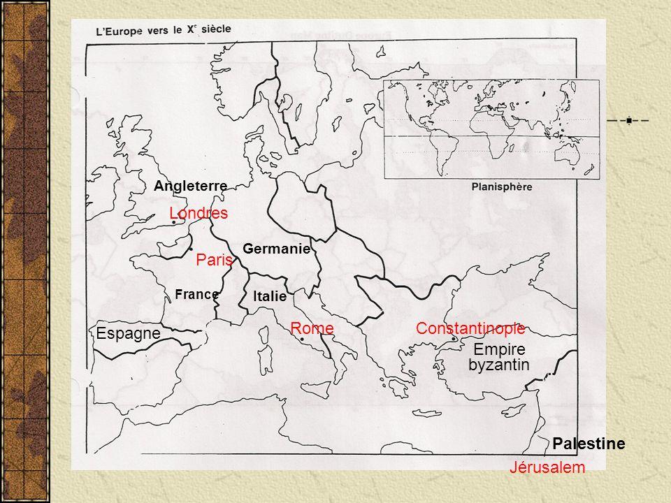 Londres Paris Rome Constantinople Espagne Empire byzantin Palestine
