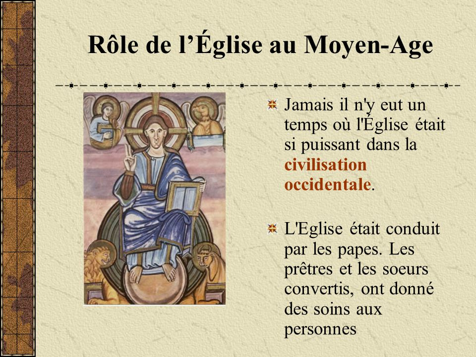 Rôle de l'Église au Moyen-Age
