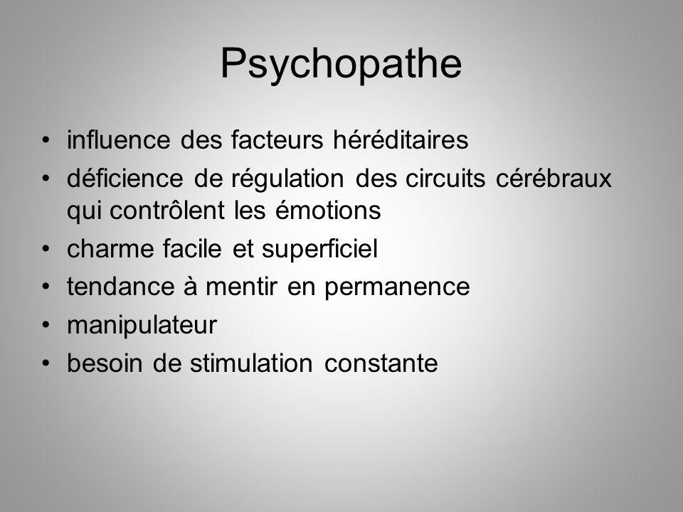 Psychopathe influence des facteurs héréditaires