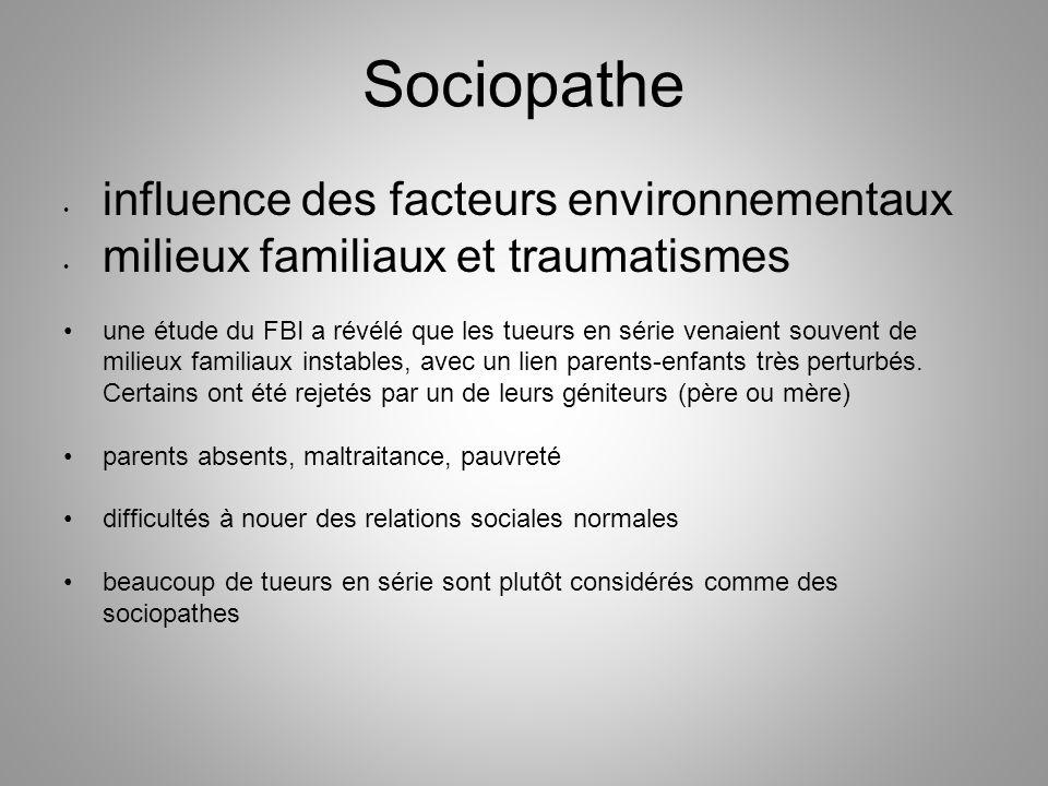 Sociopathe influence des facteurs environnementaux