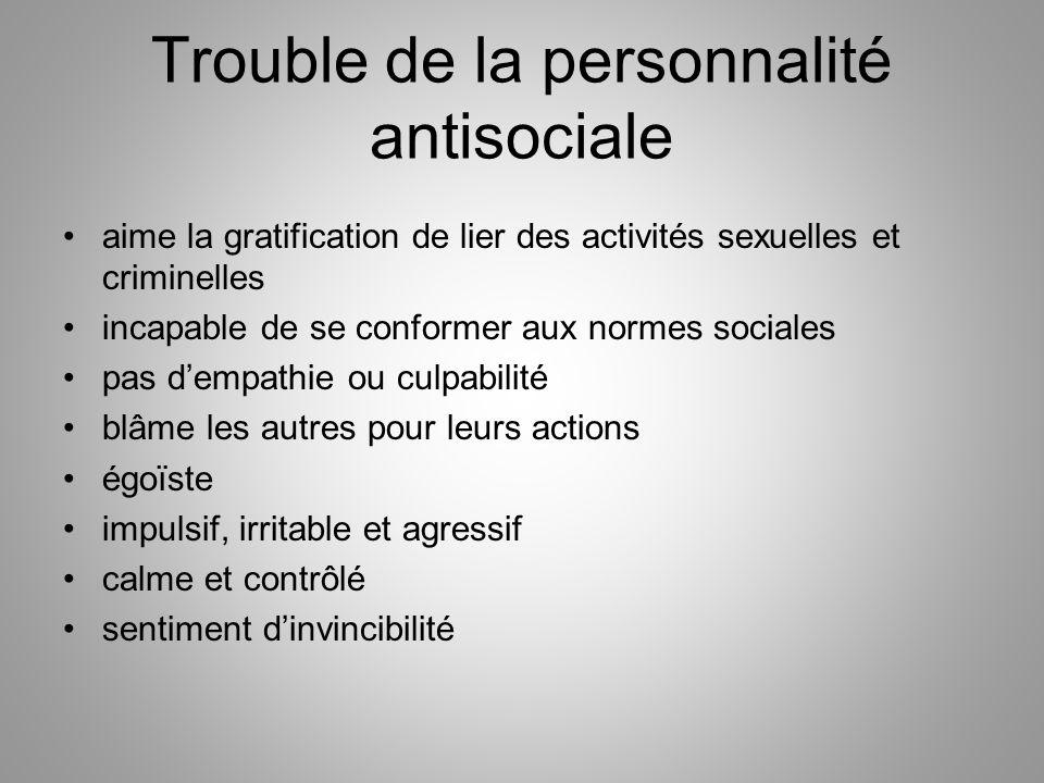 Trouble de la personnalité antisociale