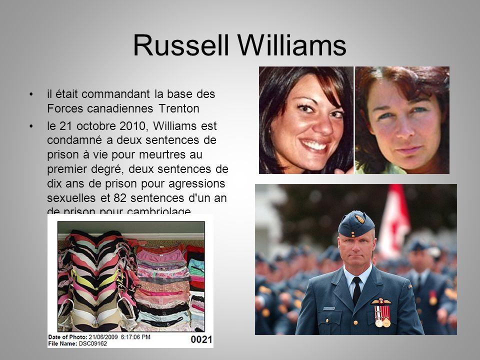 Russell Williams il était commandant la base des Forces canadiennes Trenton.