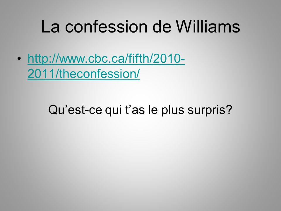 La confession de Williams