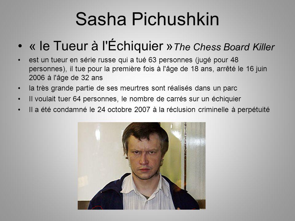 Sasha Pichushkin « le Tueur à l Échiquier »The Chess Board Killer