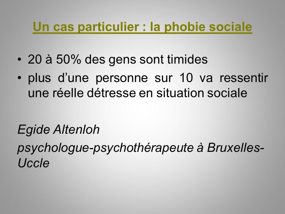 Un cas particulier : la phobie sociale