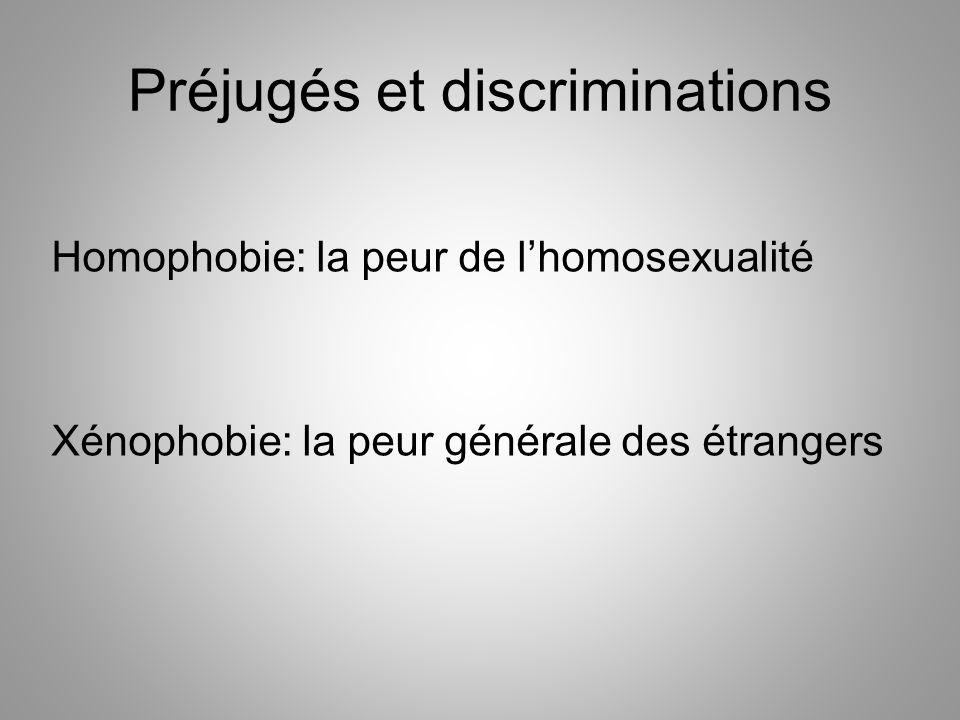 Préjugés et discriminations