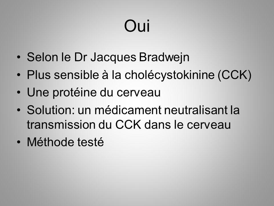 Oui Selon le Dr Jacques Bradwejn