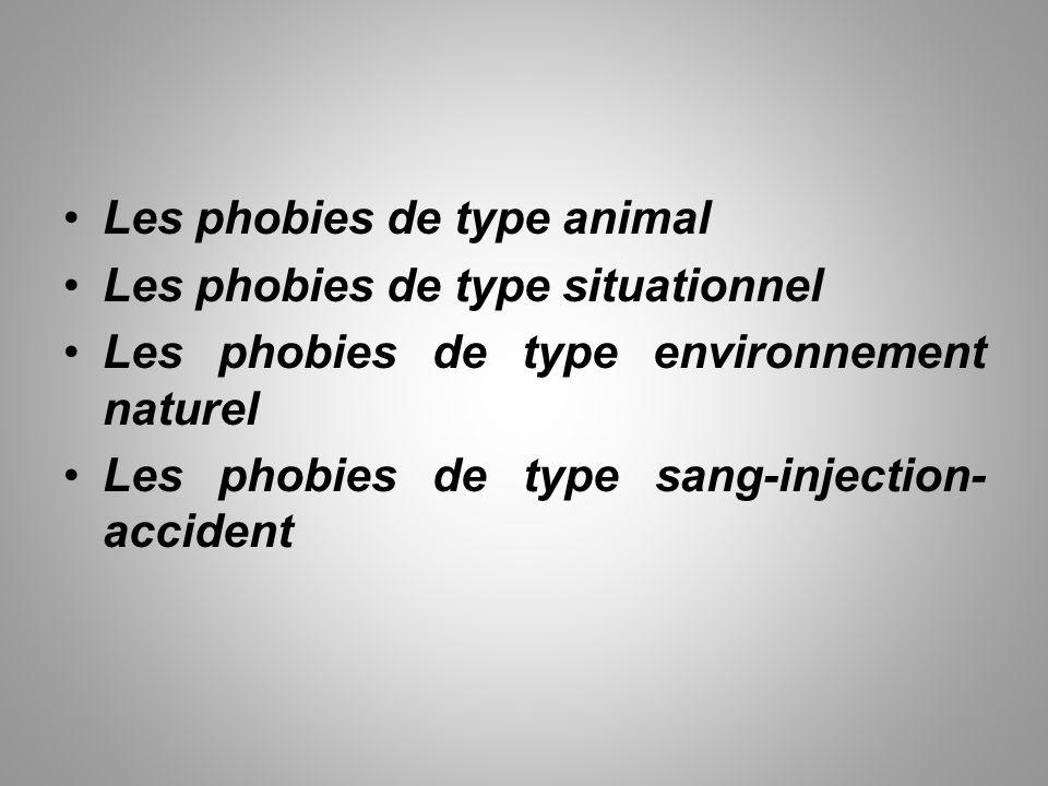 Les phobies de type animal