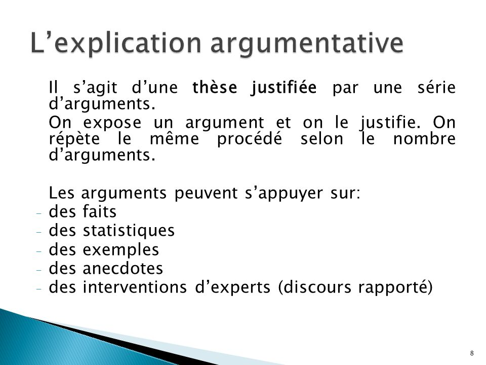 L'explication argumentative