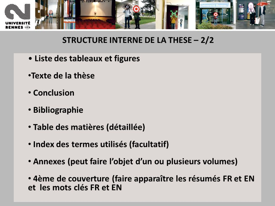 STRUCTURE INTERNE DE LA THESE – 2/2