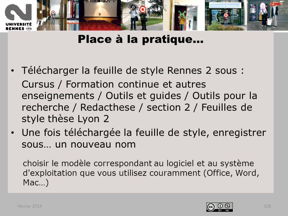 Place à la pratique… Télécharger la feuille de style Rennes 2 sous :