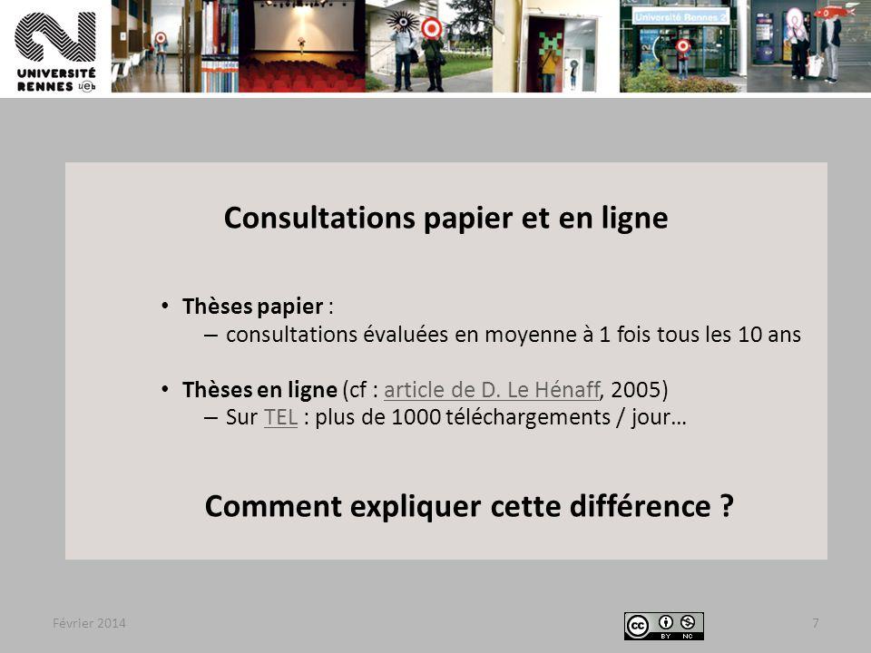 Consultations papier et en ligne