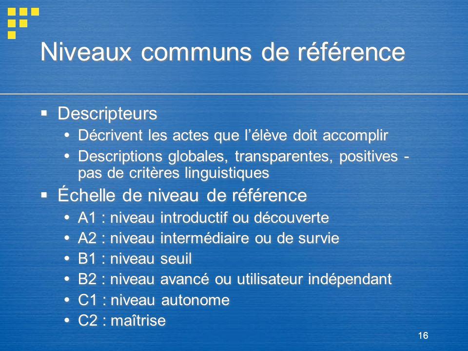 Niveaux communs de référence