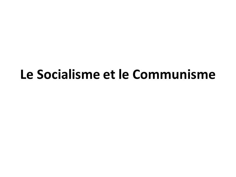 Le Socialisme et le Communisme