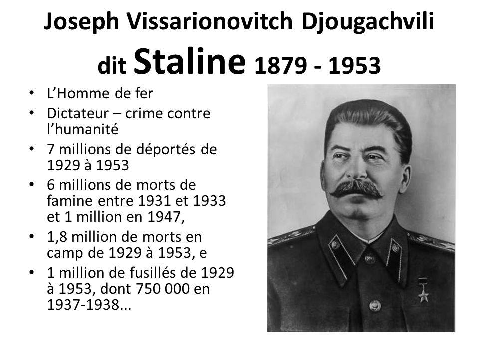 Joseph Vissarionovitch Djougachvili dit Staline 1879 - 1953