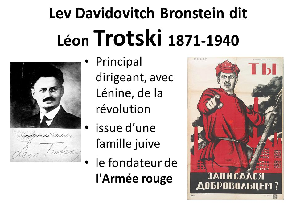 Lev Davidovitch Bronstein dit Léon Trotski 1871-1940