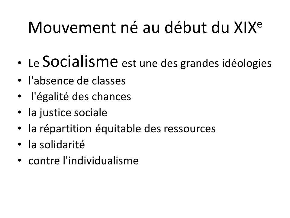 Mouvement né au début du XIXe