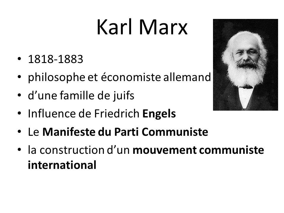 Karl Marx 1818-1883 philosophe et économiste allemand