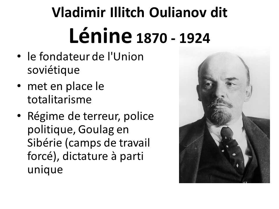 Vladimir Illitch Oulianov dit Lénine 1870 - 1924