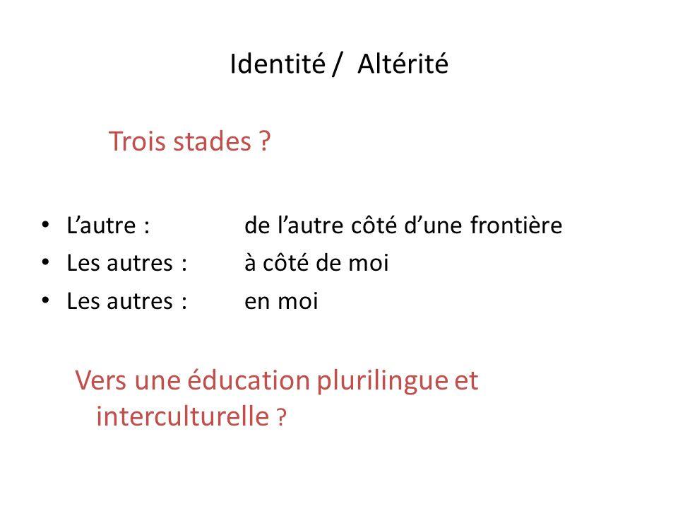 Vers une éducation plurilingue et interculturelle