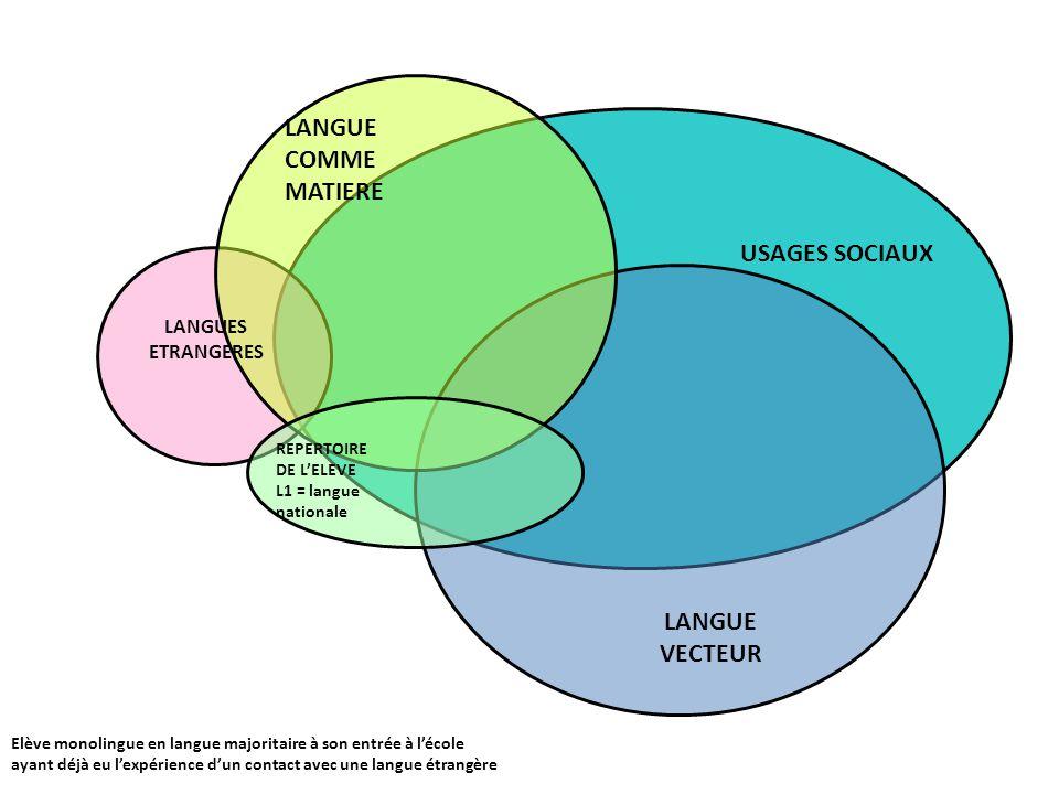 LANGUE COMME MATIERE USAGES SOCIAUX LANGUE VECTEUR LANGUES ETRANGERES