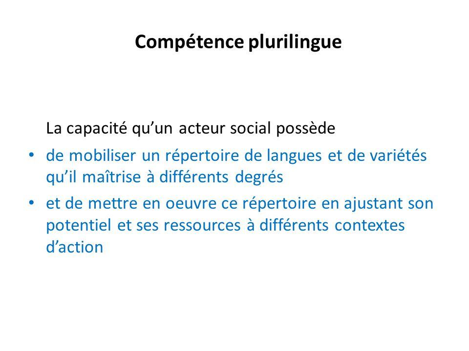 Compétence plurilingue