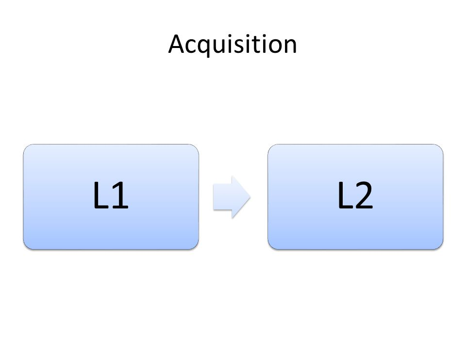 Acquisition L1 L2