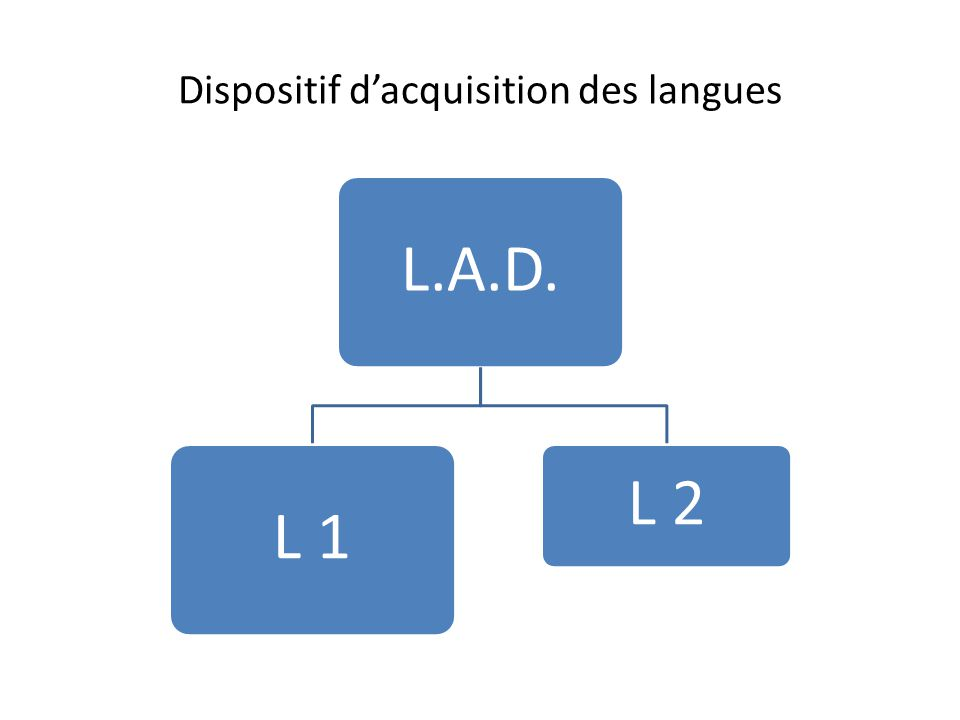 Dispositif d'acquisition des langues